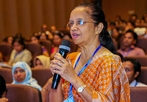 Sri Lankan woman speaking during a workshop